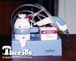 Auri-Flush - urządzenie do płukania uszu.